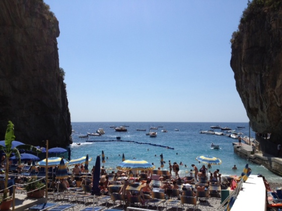 The hidden beach at Praiano is a complete revelation.