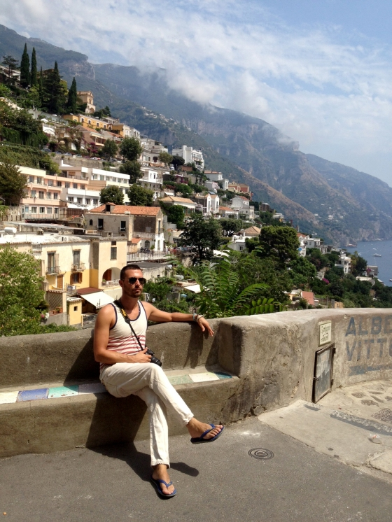 The Stylish Sojourner, louche in Positano.